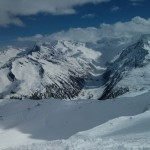 Hintertux - Looking down, right before going down :D